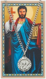 Round St. Timothy Medal and Prayer Card Set [MPCMV020]