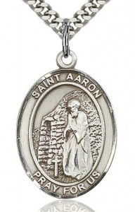 St. Aaron Medal, Sterling Silver, Large [BL0564]