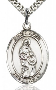 St. Anne Medal, Sterling Silver, Large [BL0741]