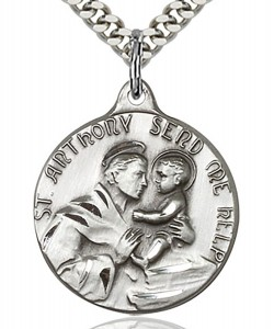 St. Anthony Medal, Sterling Silver [BL5213]