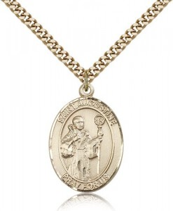 St. Augustine Medal, Gold Filled, Large [BL0801]