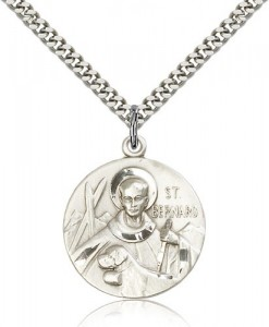 St. Bernard of Clairvaux Medal, Sterling Silver [BL4956]