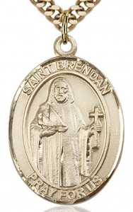 St. Brendan the Navigator Medal, Gold Filled, Large [BL0954]