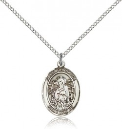 St. Christina the Astonishing Medal, Sterling Silver, Medium [BL1115]