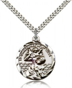 St. Christopher Medal, Sterling Silver [BL4054]