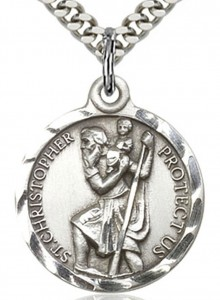 St. Christopher Medal, Sterling Silver [BL4171]