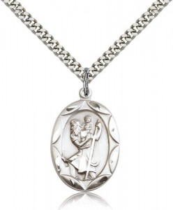 St. Christopher Medal, Sterling Silver [BL4851]