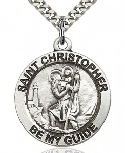 St. Christopher Medal, Sterling Silver [BL5733]