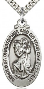 St. Christopher Medal, Sterling Silver [BL5903]