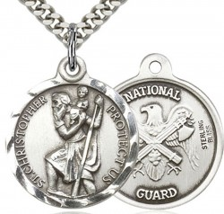 St. Christopher National Guard Medal, Sterling Silver [BL4190]