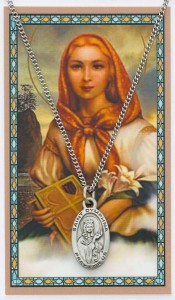 St. Dymphna Medal with Prayer Card [MPC0105]