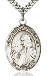 St. Finnian of Clonard Medal, Sterling Silver, Large [BL1786]