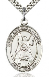 St. Frances of Rome Medal, Sterling Silver, Large [BL1813]