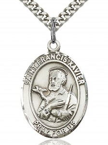 St. Francis Xavier Medal, Sterling Silver, Large [BL1840]