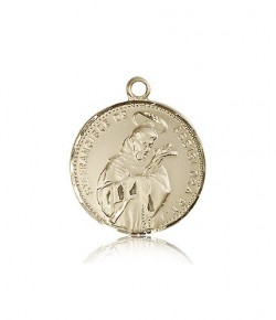 St. Francis of Assisi Medal, 14 Karat Gold [BL4159]