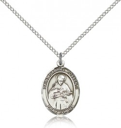 St. Gabriel Possenti Medal, Sterling Silver, Medium [BL1850]