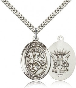 St. George Navy Medal, Sterling Silver, Large [BL1950]