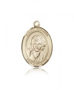 St. Gianna Medal, 14 Karat Gold, Large [BL1989]