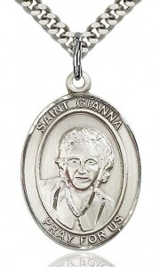 St. Gianna Medal, Sterling Silver, Large [BL1995]