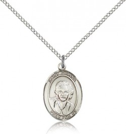 St. Gianna Medal, Sterling Silver, Medium [BL1996]