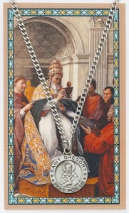 St. Gregory The Great Medal with Prayer Card [MPC0115]