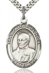 St. Ignatius of Loyola Medal, Sterling Silver, Large [BL2085]