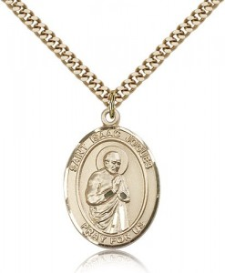 St. Isaac Jogues Medal, Gold Filled, Large [BL2091]