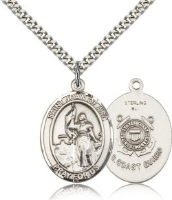 St. Joan of Arc  Coast Guard Medal, Sterling Silver, Large [BL2209]