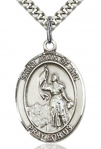 St. Joan of Arc Medal, Sterling Silver, Large [BL2247]