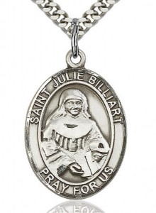 St. Julie Billiart Medal, Sterling Silver, Large [BL2499]