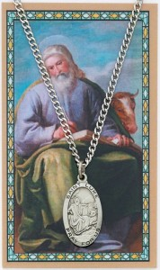 St. Luke Medal with Prayer Card [MPC0107]