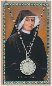 St. Maria Faustina Medal with Prayer Card [MPC0114]