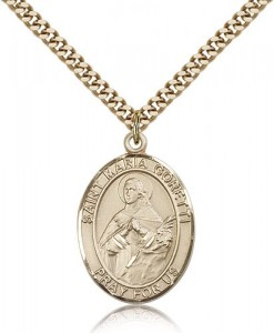 St. Maria Goretti Medal, Gold Filled, Large [BL2744]