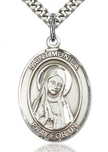 St. Monica Medal, Sterling Silver, Large [BL2946]