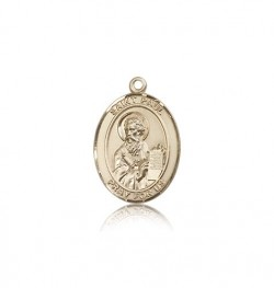 St. Paul the Apostle Medal, 14 Karat Gold, Medium [BL3016]