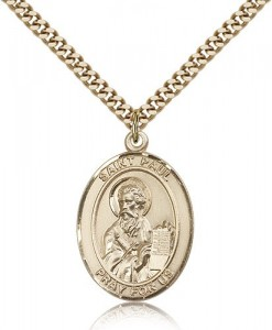 St. Paul the Apostle Medal, Gold Filled, Large [BL3018]