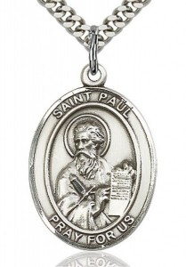 St. Paul the Apostle Medal, Sterling Silver, Large [BL3021]