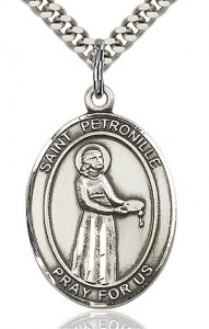 St. Petronille Medal, Sterling Silver, Large [BL3075]
