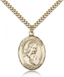 St. Philomena Medal, Gold Filled, Large [BL3099]