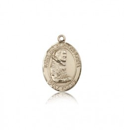 St. Pio of Pietrelcina Medal, 14 Karat Gold, Medium [BL3106]