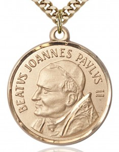 St. Pope John Paul II Medal, Gold Filled [BL5118]