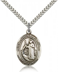 St. Raymond of Penafort Medal, Sterling Silver, Large [BL3183]