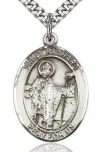 St. Richard Medal, Sterling Silver, Large [BL3237]