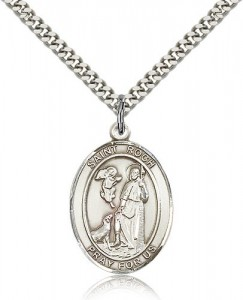 St. Roch Medal, Sterling Silver, Large [BL3282]