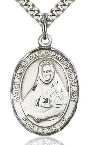 St. Rose Philippine Medal, Sterling Silver, Large [BL3318]