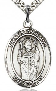 St. Stanislaus Medal, Sterling Silver, Large [BL3694]