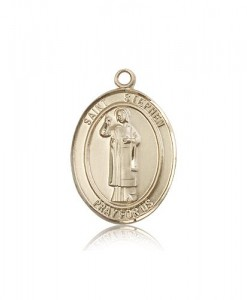 St. Stephen the Martyr Medal, 14 Karat Gold, Large [BL3706]