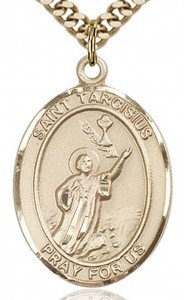 St. Tarcisius Medal, Gold Filled, Large [BL3727]
