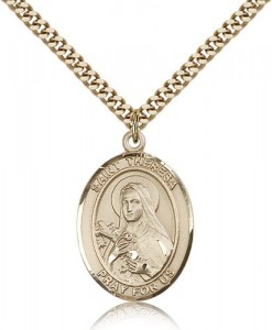 St. Theresa Medal, Gold Filled, Large [BL3754]