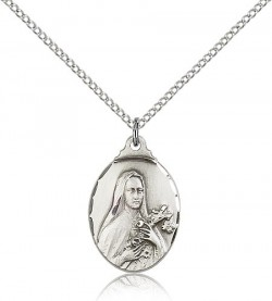 St. Theresa Medal, Sterling Silver [BL4519]